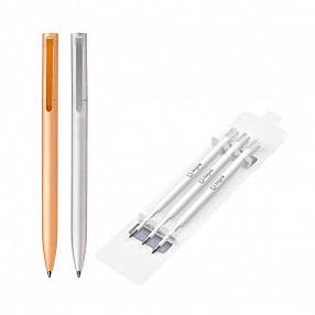 Шариковая ручка Xiaomi Mi Aluminium RollerBall Pen Refil (3 стержня в комплекте) (BZL4014TY), фото 2