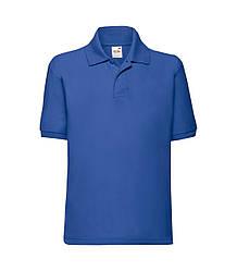 Детская футболка поло синяя 417-51