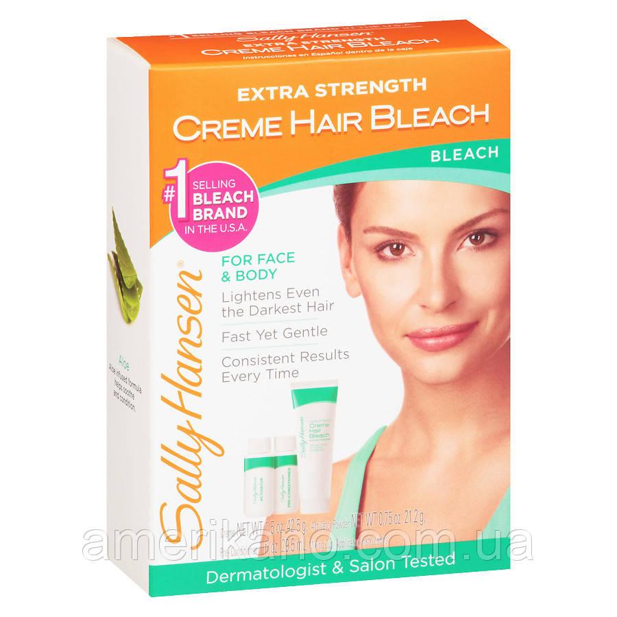 Крем для знебарвлення волосся на обличчі і тілі Sally Hansen Extra Strength Creme Bleach.
