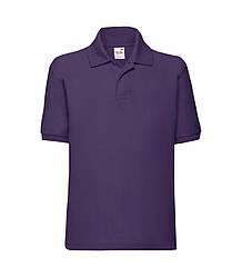 Детская футболка поло фиолетовая 417-РЕ