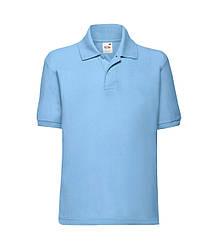 Детская футболка поло голубая 417-YТ
