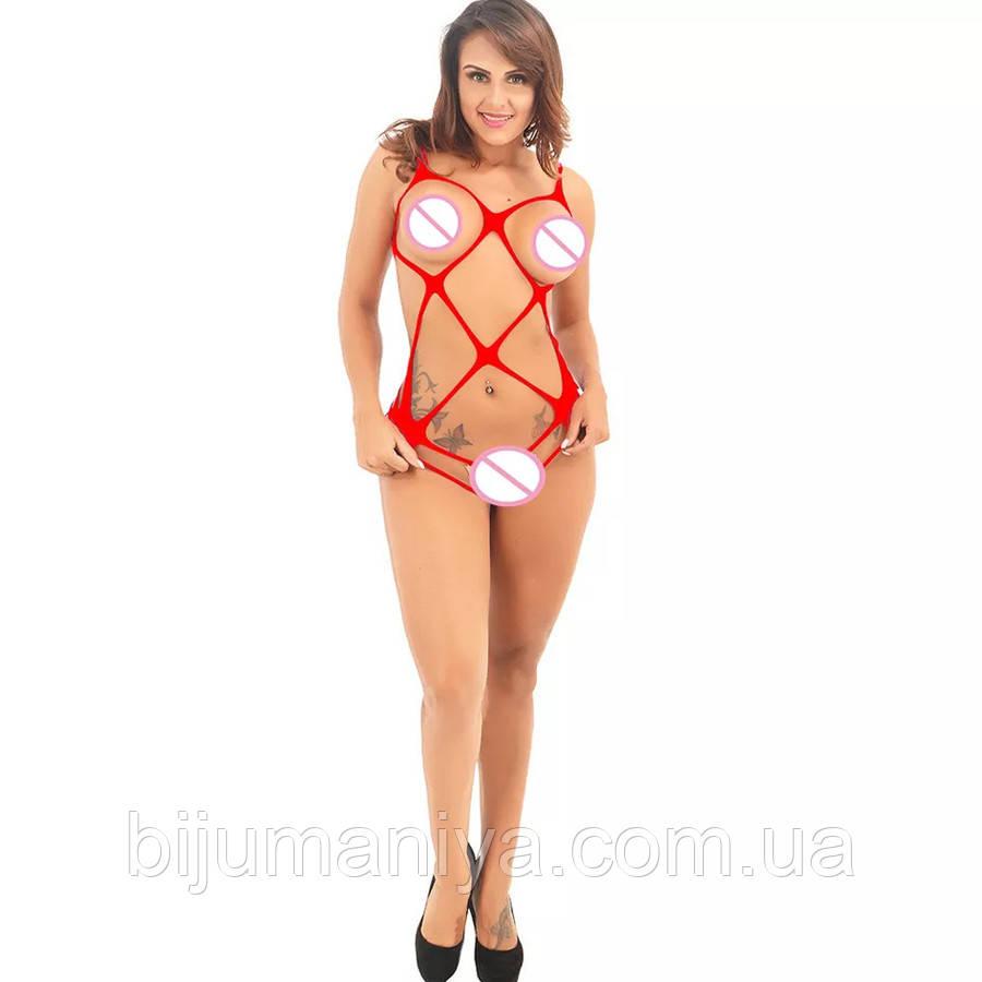Жіноча еротична, сексуальне нижню білизну, сітка, червоне і чорне 11117-б