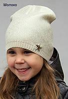 Тонкая шапка на девочку с накатом, фото 1