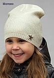 Тонкая шапка на девочку с накатом, Разные цвета, 48-54, фото 6