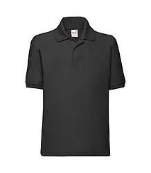 Детская футболка поло черная 417-36