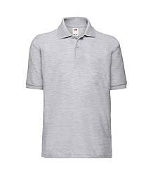 Детская футболка поло светло-серая 417-94