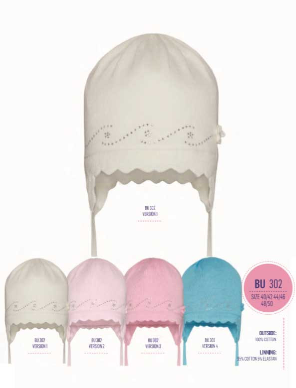 Детская шапка для девочки Одежда для девочек 0-2 BARBARAS Польша BU302/C малиновый