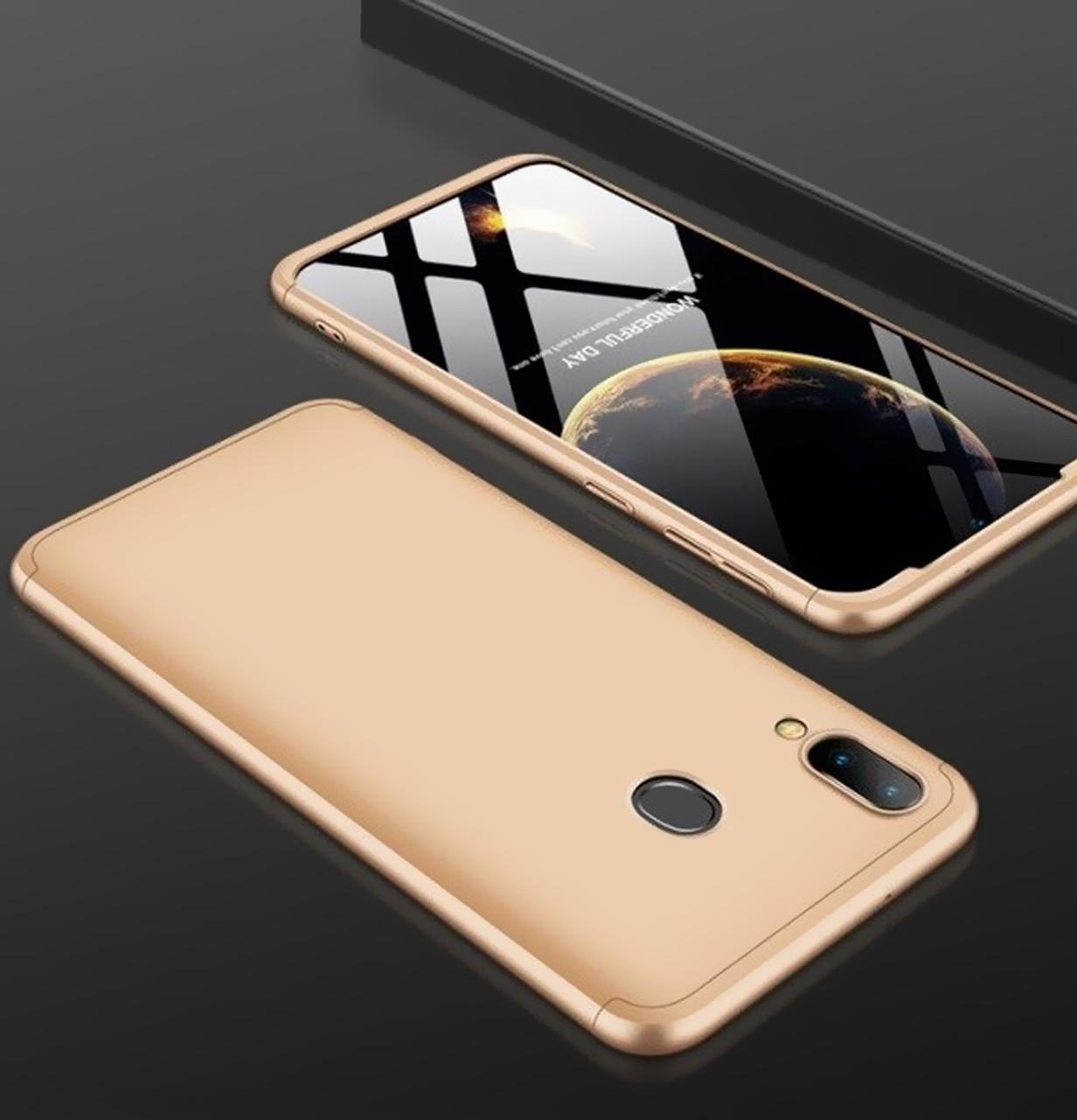 Противоударный чехол GKK LikGus 360 градусов для Samsung Galaxy A40 (2019) SM-A405F Gold