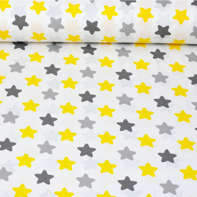 Хлопковая ткань Серо-желтые прянички