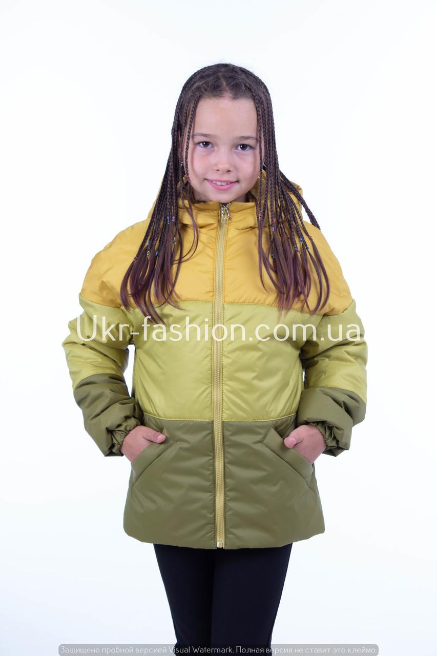 Куртка демисезонная на девочку от производителя    34-42  желтый