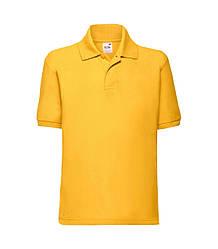 Детская футболка поло желтая 417-34