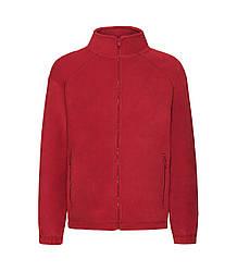 Детская флисовая кофта красная 511-40