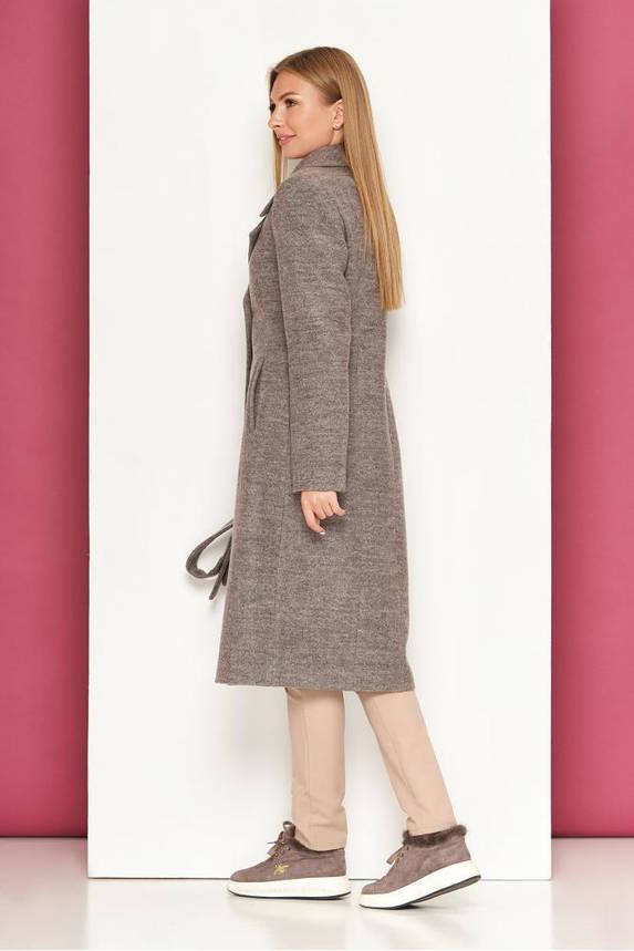 Классическое пальто демисезонное шерстяное капучино, фото 2