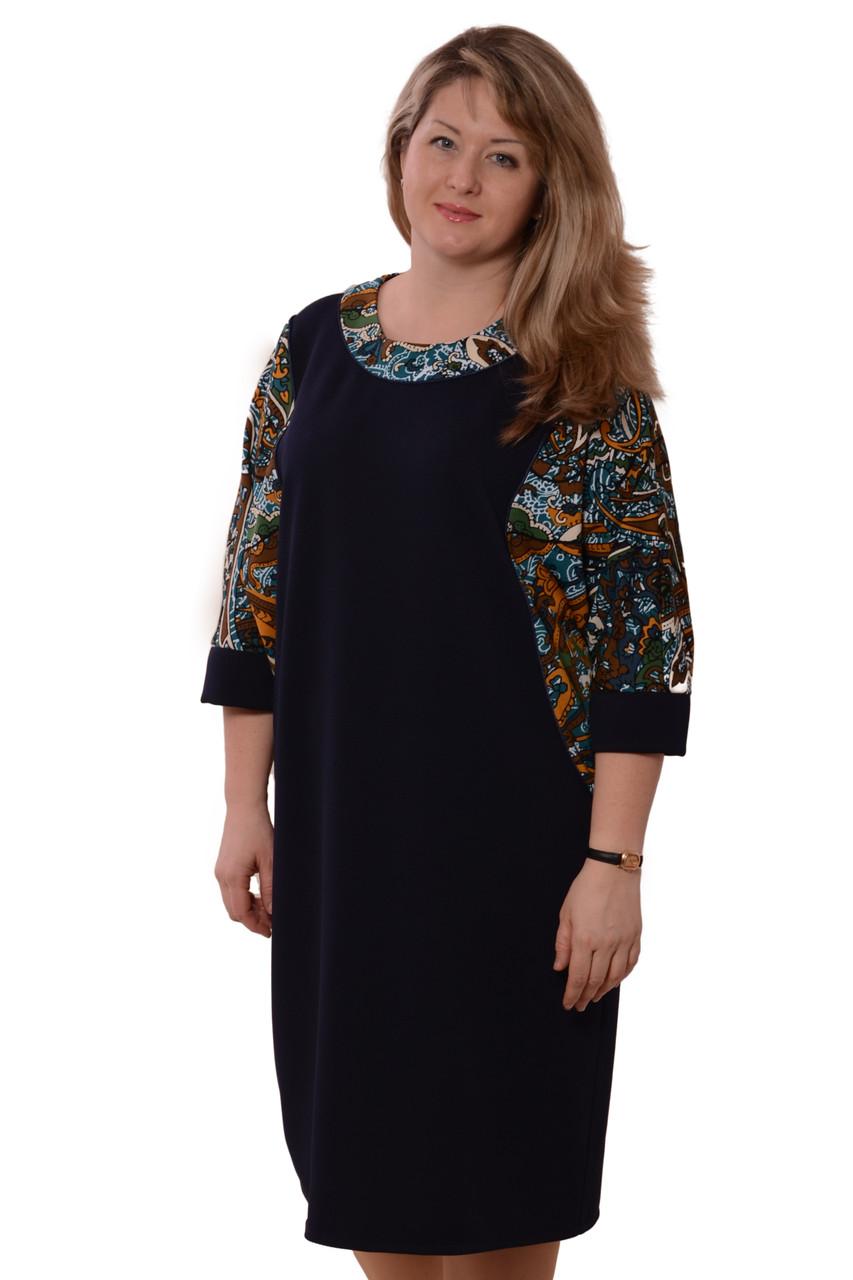 Трикотаж от производителя, платье женское , на полную фигуру , трикотажное , 50-58, Пл 042-3