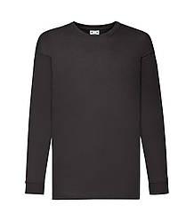 Детская футболка с длинным рукавом черная 007-36