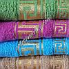 Махровое банное полотенце Версаче золотое