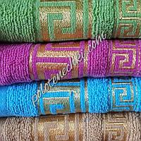 Махровое банное полотенце Версаче золотое, фото 1