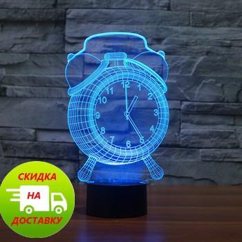 3D Светильник Часы