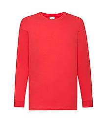 Детская футболка с длинным рукавом красная 007-40