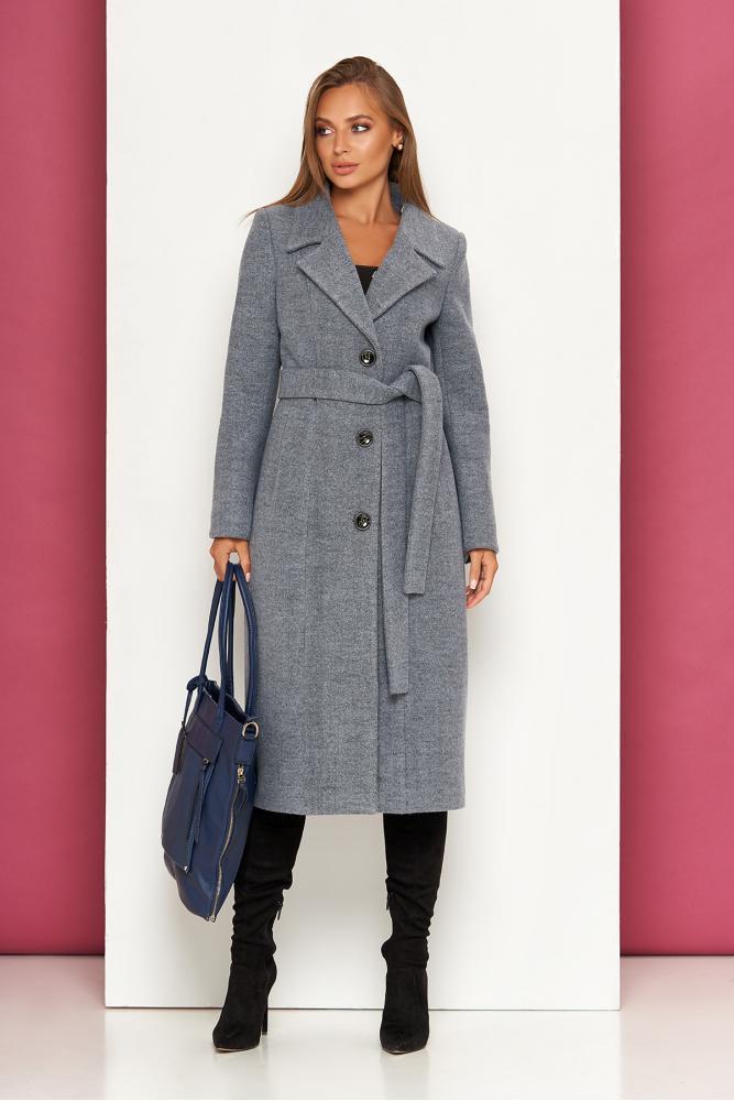 Классическое демисезонное пальто женское шерстяное