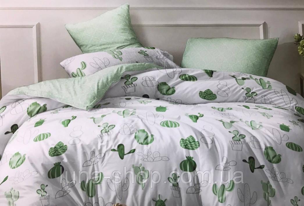 Комплект Салатовые кактусы, ранфорс (Хлопок)