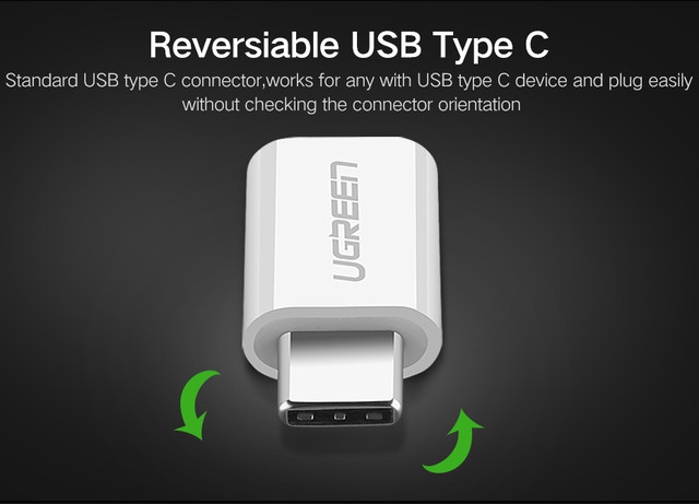Ugreen адаптер-переходник microUSB к USB Type-C US157