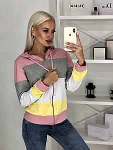 Трикотажная женская кофта с капюшоном 0281 (47)