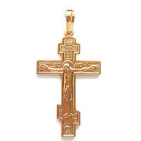 Крестик Xuping длина 4см на цепочку до 5мм  медицинское золото позолота 18К к292