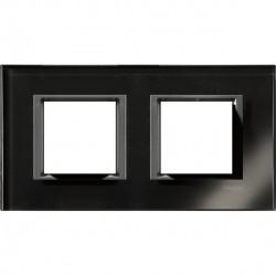 Рамка 2 пост. Unica Class чёрное зеркало MGU68.004.7C1