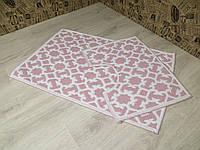 Набор турецких ковриков в ванную и туалет. 50Х80. Хлопок. Турция.