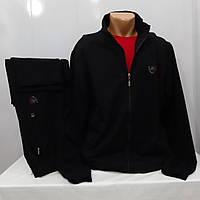 Большой размер турецкий спортивный костюм, хлопок 70, чёрный, штаны ровные.