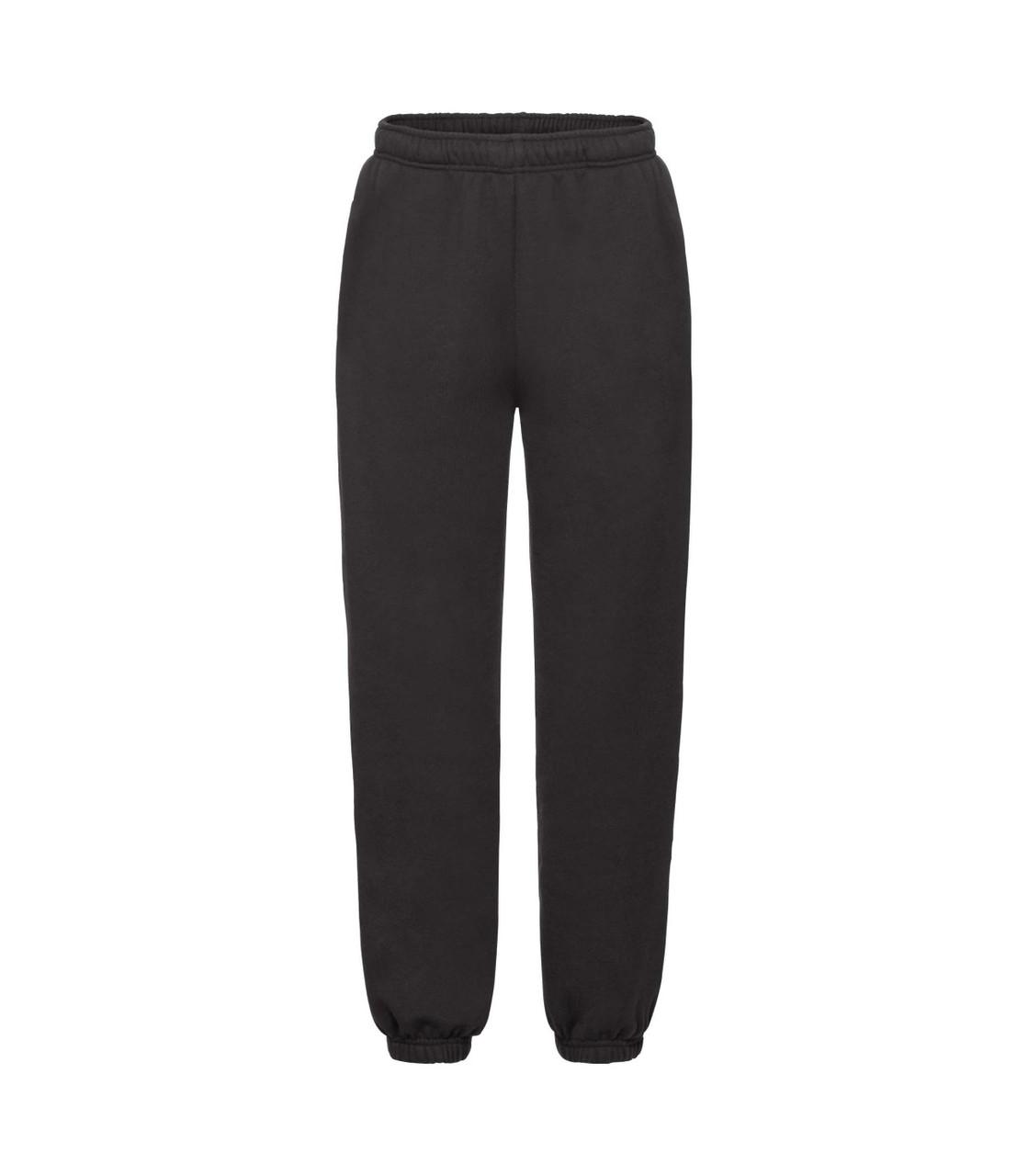 Детские спортивные штаны премиум черные 025-36