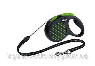 Поводок-Рулетка ФЛЕКСИ ДИЗАЙН для собак до 20кг , трос 5м, зеленый