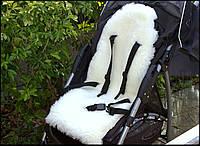 Шкурка овчины в детскую коляску, утеплитель для саней