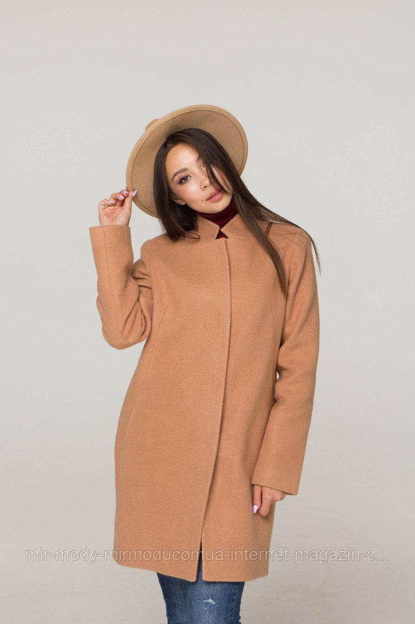 Женское демисезонное пальто Аврора -шерсть ангора  размер XS,S,M,L  (Div-es)