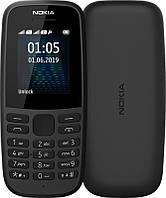 Мобильный телефон Nokia 105 2019 Dual Sim Black, 1.77 (160x128) TN / клавиатурный моноблок / ОЗУ 4 МБ / 4 МБ встроенной / без камеры / 2G (GSM) / ОС