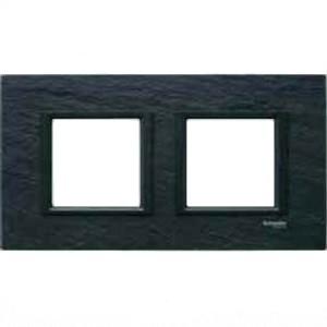 Рамка 2 пост. Unica Class чёрный камень MGU68.004.7Z1