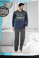 Теплая мужская пижама батал, фото 1
