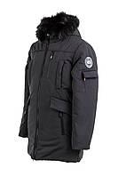 Куртку парку зимнюю мужскую с мехом  44-54 черный