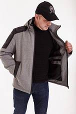 Демісезонная мужская куртка Annapolis АН-16 сірий осінь/весна с капюшоном розміром 46 48 50 52 54 56 58, фото 3