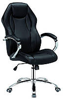 Офисное кресло для руководителя Cross black, Tilt  с регулировкой качания под вес Бесплатная доставка