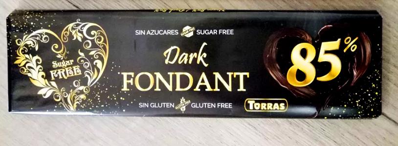 Шоколад Torras Dark Fondant 85% какао Испания 300г