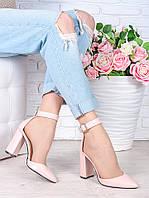 Туфли Bogemiya пудра кожа 7009-28