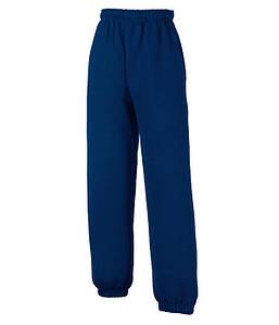 Дитячі спортивні штани з гумкою внизу Темно-Синій 128 см