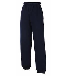 Дитячі спортивні штани з гумкою внизу Глибокий Темно-Синій 164 см