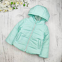 Детская куртка оптом (6шт) на девочку демисезон, бирюза 86-116