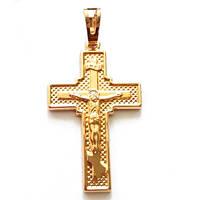 Крестик  xuping золото 18к длина 4см к235