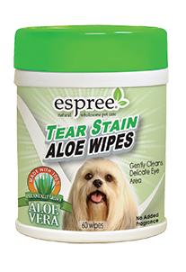 Влажные салфетки для очищения загрязнений под глазами собак Espree Tear Stain Wipes 60 шт.