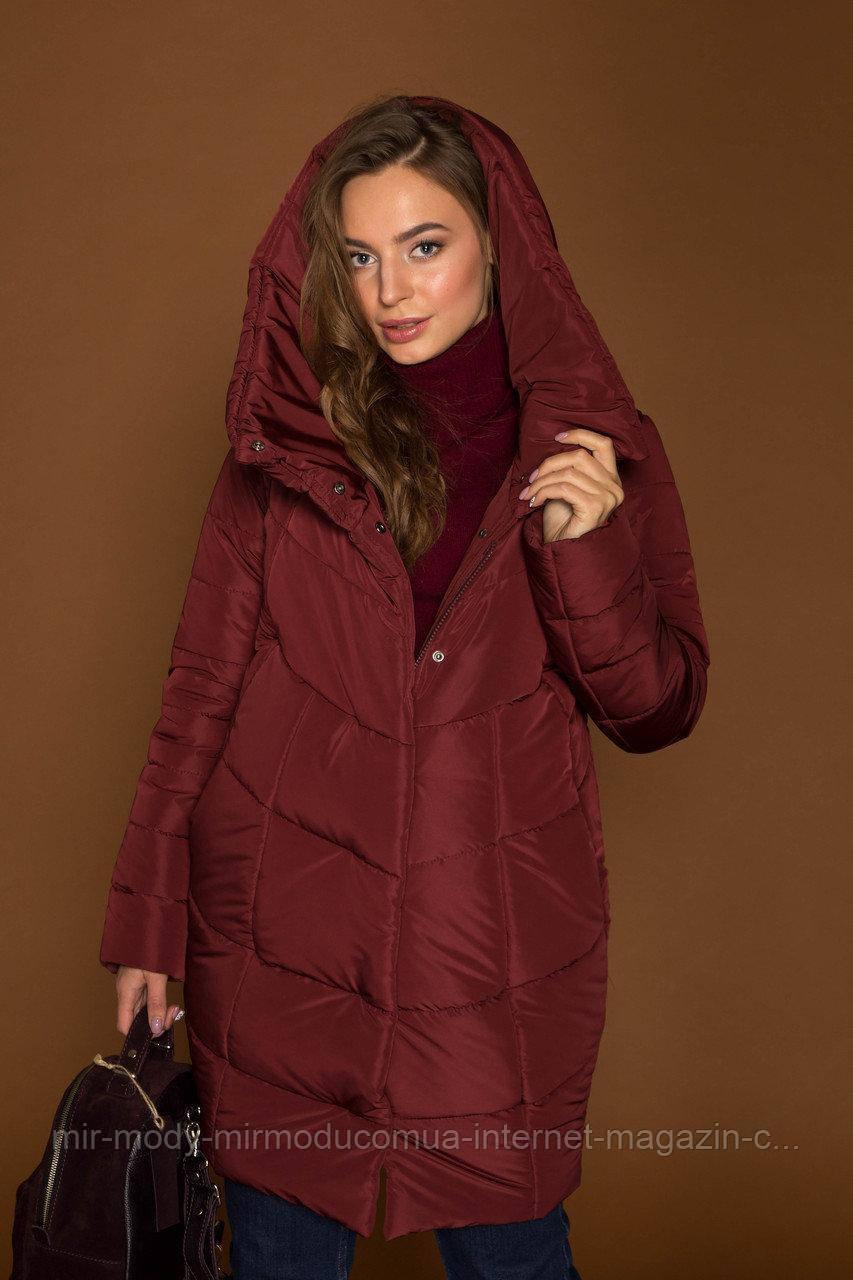 Женская зимняя куртка с капюшоном Катрин XS,S,M,L,XЛ, 2ХЛ, 3ХЛ (42-54)  размер(devi)