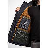 Удлиненная мужская куртка Camel Active 420092-43 с капюшоном темно-синего цвета, фото 2